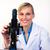 güzel · bilim · adamı · mikroskop · gülen · kamera · kız - stok fotoğraf © wavebreak_media