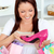 Happy woman with shopping bagsn at home stock photo © wavebreak_media