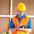 masculino · trabalhador · escrita · clipboard · trabalhar · negócio - foto stock © wavebreak_media