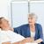 intravenoso · cálcio · dosagem · mulher · cama · de · hospital - foto stock © wavebreak_media