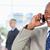 jeunes · gestionnaire · regarder · côté · rire · parler - photo stock © wavebreak_media