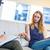 psicólogo · hablar · paciente · oficina · ayudar · sofá - foto stock © wavebreak_media