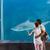 fiatalember · mutat · tank · akvárium · hal · természet - stock fotó © wavebreak_media