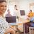 ビジネスマン · 女性実業家 · 見える · カメラ · オフィス · 会議 - ストックフォト © wavebreak_media