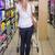 csinos · szőke · nő · vásárol · termékek · nő · piac - stock fotó © wavebreak_media