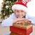 wenig · cute · Junge · Sitzung · Geschenk · Weihnachten - stock foto © wavebreak_media