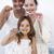 familie · schoonmaken · tanden · badkamer · gelukkig · gezin · samen - stockfoto © wavebreak_media