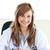 sorridere · femminile · medico · iscritto · diagnosi · ufficio - foto d'archivio © wavebreak_media