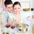 спагетти · кухне · вино · женщину · семьи - Сток-фото © wavebreak_media