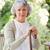 pensione · donna · piedi · stick · home · madre - foto d'archivio © wavebreak_media