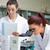 sevimli · bilim · Öğrenciler · çalışma · laboratuvar · kadın - stok fotoğraf © wavebreak_media