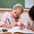 Cute · школьницы · рисунок · классе · девушки · школы - Сток-фото © wavebreak_media