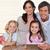 gülen · aile · birlikte · mutfak · mutlu - stok fotoğraf © wavebreak_media