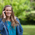 sorridere · adolescente · cellulare · piedi · parco · erba - foto d'archivio © wavebreak_media