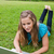 młoda · dziewczyna · trawy · nogi · za · pomocą · laptopa - zdjęcia stock © wavebreak_media