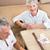 feliz · pareja · de · ancianos · cartas · casa · retrato - foto stock © wavebreak_media
