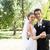 loving newly wed couple dancing in garden stock photo © wavebreak_media