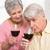 idős · pár · iszik · vörösbor · otthon · konyha · nő - stock fotó © wavebreak_media