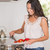beautiful brunette cooking stock photo © wavebreak_media