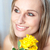 Portrait of a charming woman holding yellow roses stock photo © wavebreak_media
