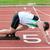 atletisch · man · lijn · voet · stadion · handen - stockfoto © wavebreak_media