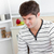 красивый · молодым · человеком · завтрак · домой · рубашку - Сток-фото © wavebreak_media