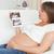 mutlu · hamile · kadın · bakıyor · ultrason · taramak · kanepe - stok fotoğraf © wavebreak_media