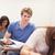 Studenten · arbeiten · Zuordnung · Frau · glücklich · Bildung - stock foto © wavebreak_media