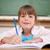 gelukkig · meisje · schrijven · klas · meisje · school · kind - stockfoto © wavebreak_media
