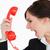 mujer · traje · gritando · rojo · marcar · teléfono - foto stock © wavebreak_media