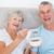 retrato · feliz · pareja · de · ancianos · desayuno · mesa · brillante - foto stock © wavebreak_media