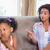 mulher · bonita · cabelos · cacheados · sessão · sofá · quarto · mulher · jovem - foto stock © wavebreak_media