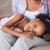 portret · moeder · dochter · ontspannen · sofa · samen - stockfoto © wavebreak_media