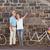 kıdemli · kadın · poz · bisiklet · yeşil · seyahat - stok fotoğraf © wavebreak_media