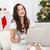 sorridente · feminino · compras · on-line · mulher · jovem · sessão - foto stock © wavebreak_media