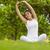 healthy woman stretching hands in park stock photo © wavebreak_media