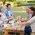 familie · picnic · zâmbet · om · fericit - imagine de stoc © wavebreak_media