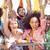 excitado · multitud · silueta · fiesta · resumen · diversión - foto stock © wavebreak_media