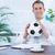 商人 · 足球 · 坐在 · 辦公桌 · 辦公室 - 商業照片 © wavebreak_media