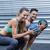 musculaire · couple · balle · exercice · portrait · homme - photo stock © wavebreak_media