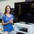 mooie · vrouw · winkelen · nieuwe · televisie · elektronica · store - stockfoto © wavebreak_media