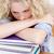 stanco · dormire · libri · studiare · lungo · tempo - foto d'archivio © wavebreak_media