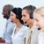 positif · gens · d'affaires · travail · centre · d'appel · bureau · ordinateur - photo stock © wavebreak_media