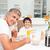 apa · fia · egészséges · reggeli · együtt · étel · konyha - stock fotó © wavebreak_media