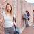 молодые · Одноклассники · позируют · за · пределами · здании · любви - Сток-фото © wavebreak_media