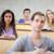koncentruje · studentów · słuchania · wykład · amfiteatr · szczęśliwy - zdjęcia stock © wavebreak_media