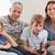 семьи · играет · Видеоигры · гостиной · любви · счастливым - Сток-фото © wavebreak_media