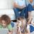 çocuklar · ebeveyn · izlerken · oturma · odası · bilgisayar - stok fotoğraf © wavebreak_media