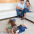 Porträt · Kinder · Tablet-Computer · glücklich · Eltern · beobachten - stock foto © wavebreak_media