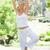 yoga · parco · giovani · femminile · persona - foto d'archivio © wavebreak_media